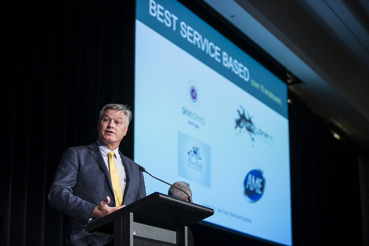 Best Service based over 10 employees - Judge - Ian Furze, Bartercard Australia, represented by Clive van Deventer, Bartercard Australia